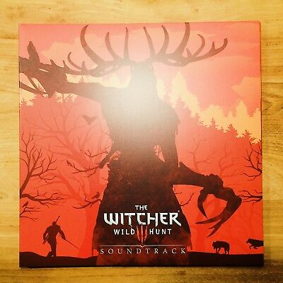 THE WITCHER 3: WILD HUNT SOUNDTRACK ✭ US ✭ CLEAR WITH RED SPLATTER ✭ 4x VINYL LP