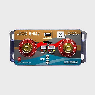 Universal battery protector with USB 6-64V 40-160A