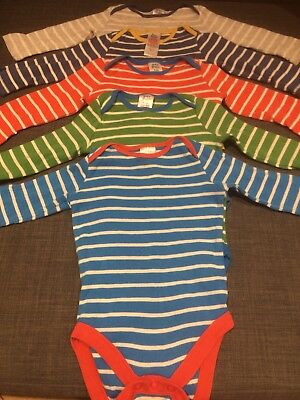 Baby Boden Long Sleeve Supersoft Cotton Bodysuits 6-12 Months