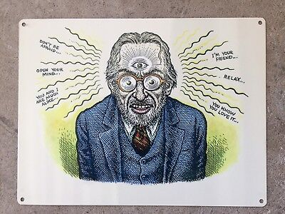 "R. Robert Crumb Shrink ""Open Your Mind"" Psychology Vintage Poster Metal Sign"