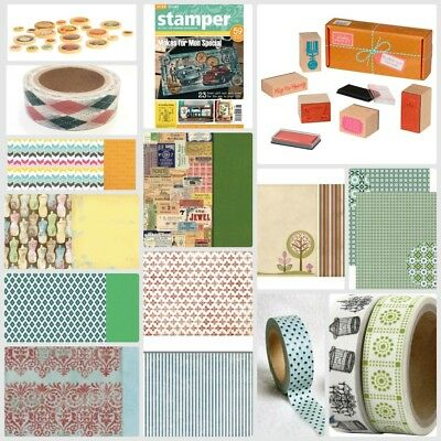 Best Value Paper Craft Bundle - Papers, Washi Tape & Stamps worth approx. £40
