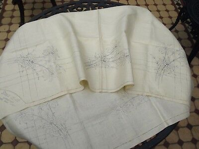 Pure Irish Linen Tablecloth Complete With Transfer For Embroidery