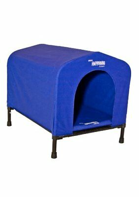 HoundHouse Kennel Dog House, Small, 54 x 48 x 48 cm, Blue