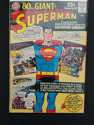 Superman #183 80 Page Giant Prize Stories from the Superman Library