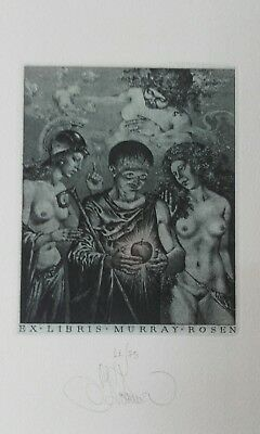 KONSTANTIN KALINOVICH exlibris erotic JUDGEMENT OF PARIS bookplate