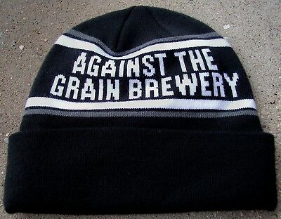 Against The Grain Brewery Black Beanie Louisville Ky Nwot Made In The Usa