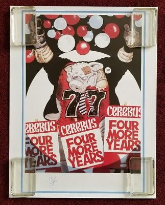 Dave Sim CEREBUS Four More Years Presidential Election Campaign Poster Signed
