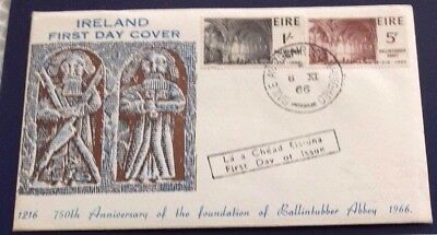 Ireland Ballintubber Abbey 1966 First Day Cover