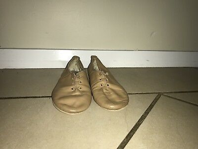 Bloch Jazz Shoes Tan Girls Size 12
