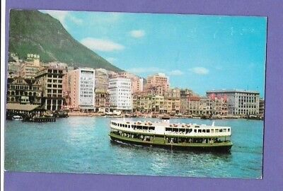 Victoria City Star Ferry Hong Kong Original Vintage Postcard Gv2