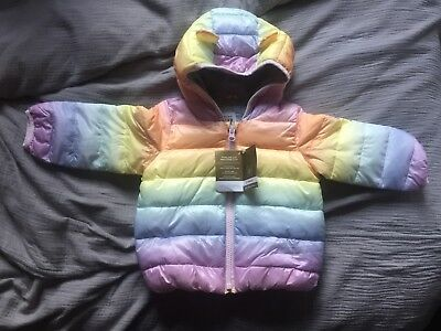 Cute ColdControl Lite bear puffer - Baby Gap in pastel colours 12-18 months BNWT