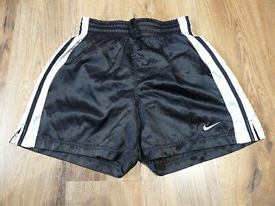 Vintage Womens Nike Shiny Nylon Shorts Glanz Ibiza Gym Size Large 12-14 (S045)