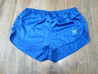 Womens 80's Adidas Shiny Nylon Shorts West Germany Glanz Size 16 D42 (S025)