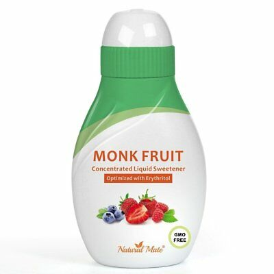 Monk Fruit Concentrated Liquid Sweetener Optimized with Erythritol 1.33 FL OZ 37