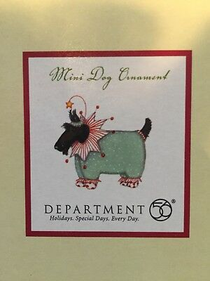 Department 56 Patience Brewster Mini Dog Ornament Terrier
