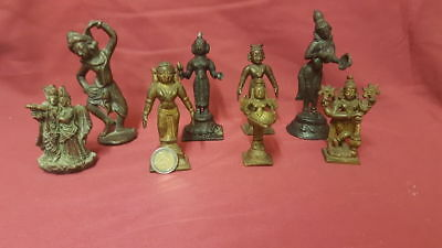 Collection of Indian Bronze Figures and Gods - India