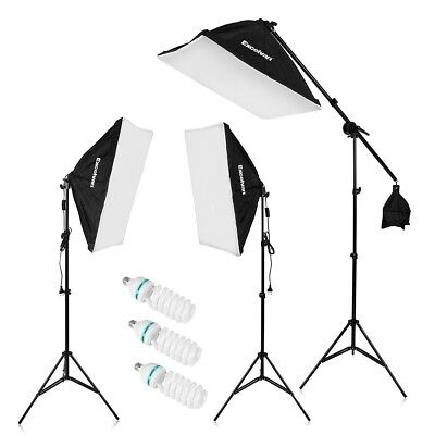 Photography Studio LED Lighting Kit Complete Beginners Set Continues Lights New