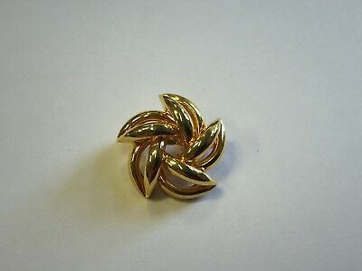 Stunning Vintage Estate Find 3-D Interlaced Star Goldtone Brooch Pin A9