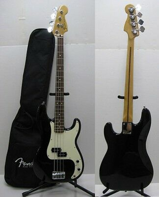 Fender Mexico Standard Precision Bass Guitar Black good condition from Japan