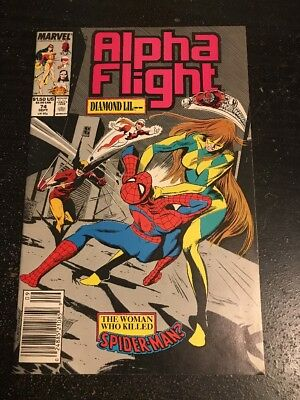 Alpha Flight#74 Incredible Condition 9.0(1989) Spider-Man Beatdown, Wolverine!!