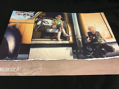 Square Enix Cafe Prompto Cindy Final Fantasy 15 FFXV Luncheon Placemat Exclusive