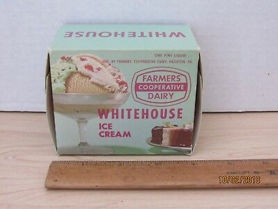 Vintage FARMERS COOPERATIVE DAIRY WHITEHOUSE ICE CREAM Box Advertising