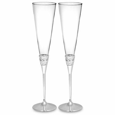 NEW Vera Wang for Wedgwood With Love Toasting Flutes Pair.
