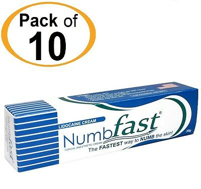 10 Tubes NUMB FAST® Numbing Painless Cream Tattoo Piercing Waxing Laser Dr