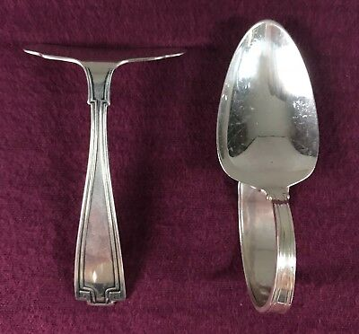 Gorham Etruscan Sterling Silver Baby Spoon & Food Pusher Set No Mono Old Mark