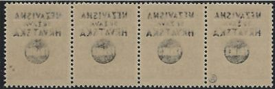 1941 (17 May). FRANCO Provisionals. 50p strip of 4, FULL OFFSET of OVERPRINT**