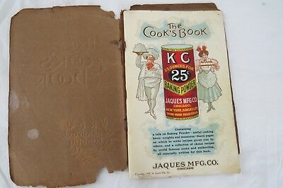 """Antique 1909 """"The Cook's Book"""" by KC Baking Powder"""