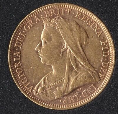 Victoria Old Head1894-M Full Gold Sovereign St.George on Reverse