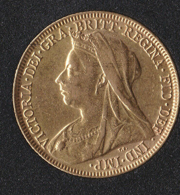 Victoria Old Head1896 Full Gold Sovereign St.George on Reverse