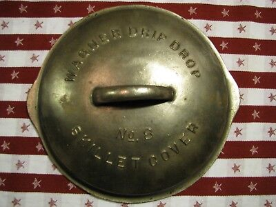 "WAGNER DRIP DROP No. 8 Skillet Cover 1068 ""LID ONLY"""