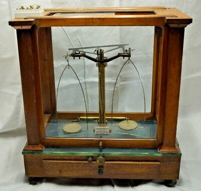 Antique Vintage Becker's Son's Apothecary Precision Scale W/ Weights & Extras