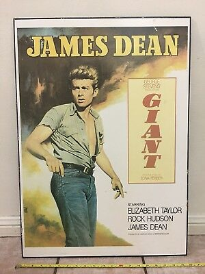 James Dean 1950s Poster On Wood