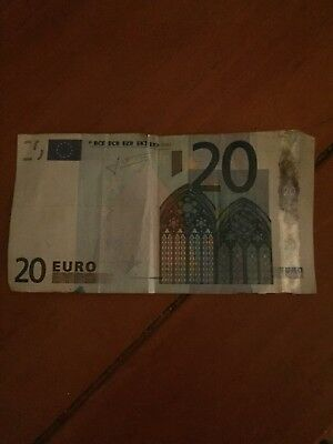 European €20 Euros Circulated Paper Note Currency $20 Euro ~ Real Money