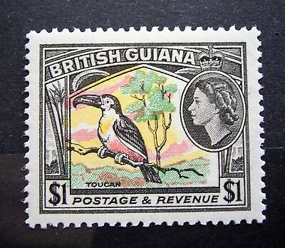 British Guiana - 1954 QE11 $1 MLH Stamp - Great Stamp Must Have