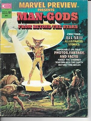 Marvel Preview Presents Man-Gods From Beyond The Stars #1 Fist Issue 1975