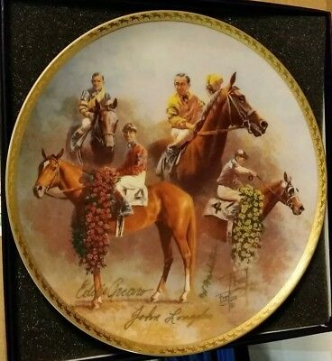 THE AMERICAN TRIPLE CROWN PLATE #2 - 4 Gold Ink signatures - by Fred Stone