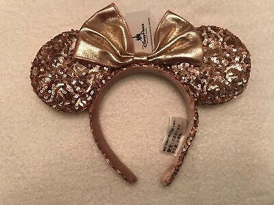 Disney Parks ROSE GOLD Minnie Mouse Ears Headband Brand New, Sold Out
