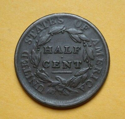 1809 Classic Head Half Cent, Fine  ~  Nice Example, First Year Of Series