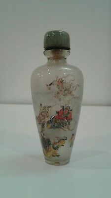 Chinese antique or vintage inside painted glass snuff bottle signed