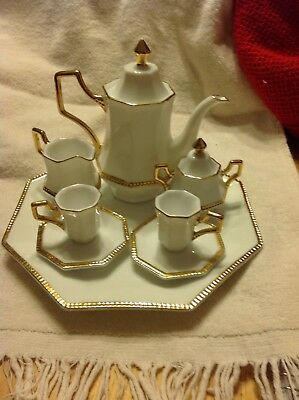 White And Gold Tea Set Childs