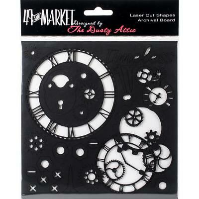 """49 and Market Chippies ~ TIMELESS ~ BLACK 6""""x6"""" Chipboard NEW Dusty Attic"""