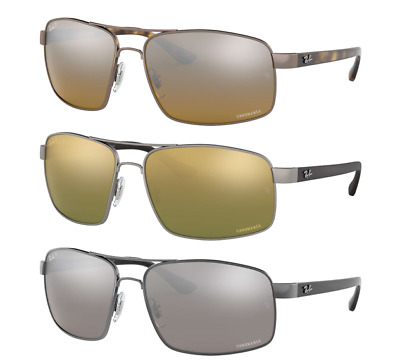 b71b2ac3c4 Ray Ban Chromance Polarized Sunglasses RB3604CH Silver Or Green Or Brown  Lens