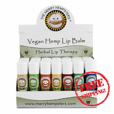 Lip Balm Vegan Hemp 7 Flavours Assortment for dry lips - Merry Hempsters stick