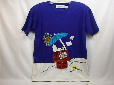 """Snoopy Peanuts adult clothing top #1Y, """"sequins/beads"""", Marisa Christina, NEW"""