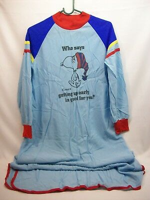 """Snoopy Peanuts adult sleeping night gown, """"getting up early, good for you?"""""""