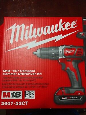 Genuine Milwaukee 2607-22Ct Hammer Drill/driver Brand New And Sealed No Reserve!